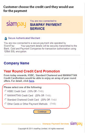 PromoPay – A Credit Card Promotion Solution | SiamPay